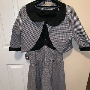 Lindy bop dress and bolero houndstooth